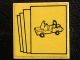 Part No: 3068bpb0614  Name: Tile 2 x 2 with Groove with Car on Yellow Background Pattern (Sticker) - Set 10041