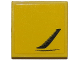 Part No: 3068bpb0957L  Name: Tile 2 x 2 with Groove with Chevrolet Corvette Side Air Vent Pattern Model Left Side (Sticker) - Set 75870
