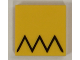 Part No: 3068bpb1180  Name: Tile 2 x 2 with Groove with Black Zigzag (Homer Simpson's Hair) Pattern