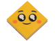 Part No: 3068bpb1247  Name: Tile 2 x 2 with Groove with Face, Smile, Black Eyes with White Pupils, Orange Cheeks Pattern