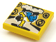 Part No: 3068bpb1623  Name: Tile 2 x 2 with Groove with BeatBit Album Cover - Breakdancer and Speakers Pattern