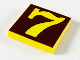 Part No: 3068pb37  Name: Tile 2 x 2 with Number  7 Brown Background Pattern