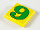 Part No: 3068pb46  Name: Tile 2 x 2 with Number  6 / 9 Green Pattern