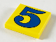 Part No: 3068pb49  Name: Tile 2 x 2 with Number  5 Blue Pattern