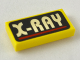 Part No: 3069bpx21  Name: Tile 1 x 2 with Groove with X-RAY Text Pattern