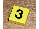 Part No: 3070bp03  Name: Tile 1 x 1 with Groove with Number 3 Pattern