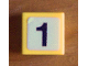 Part No: 3070bpb056  Name: Tile 1 x 1 with Groove with Number 1 Pattern (Sticker) - Set 8679