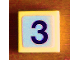 Part No: 3070bpb058  Name: Tile 1 x 1 with Groove with Number 3 Pattern (Sticker) - Set 8679