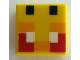Part No: 3070bpb200  Name: Tile 1 x 1 with Groove with Angry Bee Eyes Minecraft Pixelated Pattern