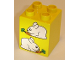 Part No: 31110pb032  Name: Duplo, Brick 2 x 2 x 2 with Two Rabbits Pattern