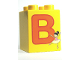 Part No: 31110pb044  Name: Duplo, Brick 2 x 2 x 2 with Letter B and Ballerina Pattern