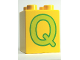 Part No: 31110pb059  Name: Duplo, Brick 2 x 2 x 2 with Letter Q Pattern