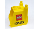 Part No: 31257  Name: Duplo Truck Construction Vehicle Back with Black and Yellow Danger Stripes and LEGO Logo Pattern on Both Sides