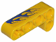 Part No: 32140pb06L  Name: Technic, Liftarm 2 x 4 L-Shape Thick with Blue Flames Pattern Model Left (Sticker) - Set 8651
