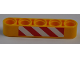 Part No: 32316pb023  Name: Technic, Liftarm 1 x 5 Thick with Red and White Danger Stripes Pattern (Sticker) - Set 8421