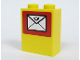 Part No: 3245bpb04  Name: Brick 1 x 2 x 2 with Inside Axle Holder with Mail Envelope Pattern (Sticker) - Set 7731