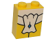 Part No: 3245cpb049  Name: Brick 1 x 2 x 2 with Inside Stud Holder with White Tie Pattern