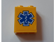 Part No: 3245cpb105  Name: Brick 1 x 2 x 2 with Inside Stud Holder with EMT Star of Life Pattern (Sticker) - Set 60179