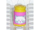 Part No: 33011cpb01  Name: Scala Accessories Jar Jam / Jelly, Pink Label with White Cat Face Pattern (Sticker) - Set 5944