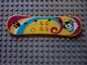 Part No: 33285pb01  Name: Scala Utensil Skateboard with Purple Arcs and Paw Print Pattern (Set 3122)