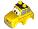 Part No: 33593pb01  Name: Duplo Car Body 2 Top Studs Compact with Cars Luigi with Silver Side Windows Pattern