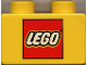 Part No: 3437pb002  Name: Duplo, Brick 2 x 2 with Lego Logo Pattern
