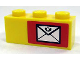 Part No: 3622pb024R  Name: Brick 1 x 3 with Mail Envelope Pattern Right (Sticker) - Set 7732