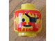 Part No: 3626apb06  Name: Minifigure, Head Beard Vertical Lines with Messy Hair, Moustache Red, Eyepatch Pattern - Solid Stud