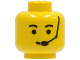 Part No: 3626bp06  Name: Minifigure, Head Male Eyebrows and Headset Pattern - Blocked Open Stud