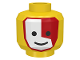 Part No: 3626bp3j  Name: Minifigure, Head Face Paint Islander with Red and White War Paint Pattern - Blocked Open Stud