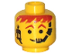 Part No: 3626bp69  Name: Minifigure, Head Male Headset Over Smile, Red-Brown Hair & Eyebrows Pattern - Blocked Open Stud