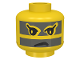 Part No: 3626bpac  Name: Minifigure, Head Face Paint with Gray Stripes across Face Pattern (Achu) - Blocked Open Stud