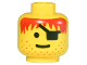 Part No: 3626bpb0082  Name: Minifigure, Head Male Eyepatch, Stubble, Red-Brown Hair Pattern - Blocked Open Stud