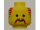 Part No: 3626bpb0096  Name: Minifigure, Head Moustache, Stubble and Sideburns Brown Pattern - Blocked Open Stud