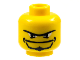Part No: 3626bpb0161  Name: Minifigure, Head Beard with Goatee, Unibrow and Eye Whites Pattern - Blocked Open Stud