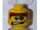 Part No: 3626bpb0179  Name: Minifigure, Head Male Headband Red with Crooked Mouth with Teeth Pattern - Blocked Open Stud