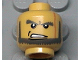 Part No: 3626bpb0185  Name: Minifigure, Head Beard with Angry Eyebrows and Open Mouth Pattern - Blocked Open Stud