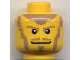 Part No: 3626bpb0218  Name: Minifigure, Head Beard Light Brown Sideburns, Goatee, Moustache, White Pupils Pattern (Danju) - Blocked Open Stud
