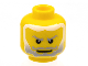 Part No: 3626bpb0222  Name: Minifigure, Head Beard Gray Fading to White Hair, White Pupils Pattern (King Mathias) - Blocked Open Stud