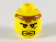 Part No: 3626bpb0264  Name: Minifigure, Head Black Goatee, Messy Brown Hair, Cleft Chin, 3 Marks under Left Eye Pattern (Adric) - Blocked Open Stud