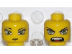 Part No: 3626bpb0279  Name: Minifigure, Head Dual Sided Exo-Force Green Eyes Female with Slight Smirk / Open Mouth Pattern (Hitomi) - Blocked Open Stud