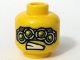 Part No: 3626bpb0304  Name: Minifigure, Head Alien with Four Mechanical Eyes, Teeth Pattern - Blocked Open Stud