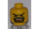 Part No: 3626bpb0308  Name: Minifigure, Head Moustache Open Mouth, Goatee, V Brow Eyes Pattern - Blocked Open Stud