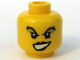Part No: 3626bpb0311  Name: Minifigure, Head Female with Black Lips, Green Eye Shadow Pattern - Blocked Open Stud