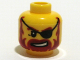 Part No: 3626bpb0323  Name: Minifigure, Head Beard Red-Brown, Sneer, Eyepatch Pattern - Blocked Open Stud