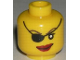 Part No: 3626bpb0324  Name: Minifigure, Head Female with Eyepatch and Large Red Lips Pattern - Blocked Open Stud