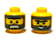 Part No: 3626bpb0359  Name: Minifigure, Head Dual Sided Unibrow with Dark Bluish Gray Beard, Sideburns, Hair and Black Scar, Clenched Teeth / Grin Pattern - Blocked Open Stud