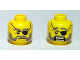Part No: 3626bpb0399  Name: Minifigure, Head Dual Sided Eyepatch and Gray Beard Closed Mouth / Open Mouth Scared Pattern - Blocked Open Stud