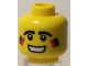 Part No: 3626bpb0440  Name: Minifigure, Head Black Eyes and Eyebrows, Two-Color Cheek Paint Pattern - Blocked Open Stud
