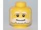 Part No: 3626bpb0545  Name: Minifigure, Head Beard White, Bushy Eyebrows, Smile, White Pupils Pattern - Blocked Open Stud